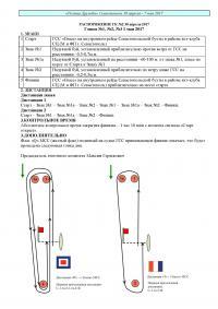 Распоряжение на гонки 1-3