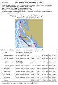 Инструкция для Open800 на гонку Транзундский рейд - бухта Дубковая